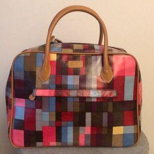 BCBGMaxAzria Bags - Vintage BCBG multicolored weekender